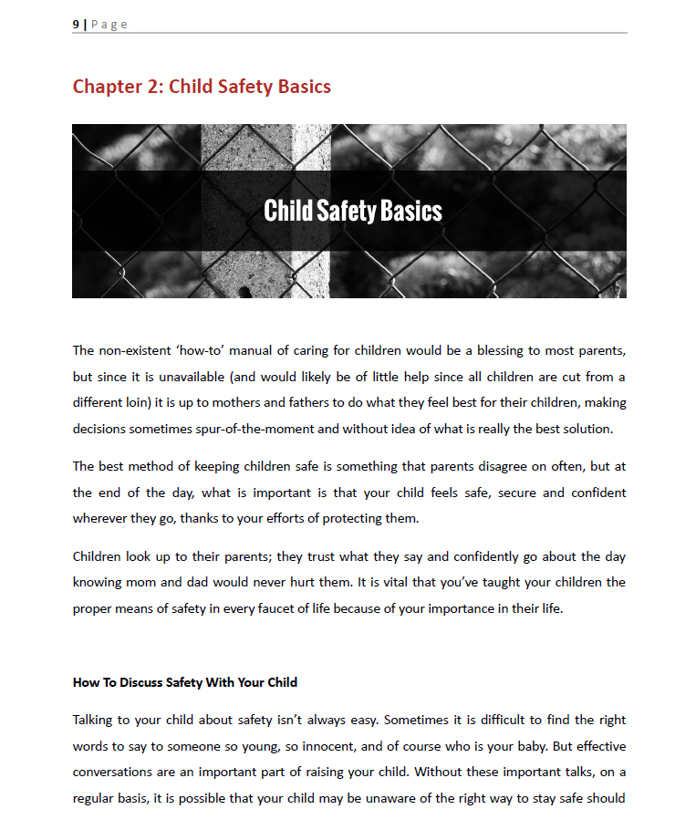 Child Safety Facts, Learn How to Keep Your Child Safe